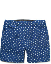 Blue Print Shorts
