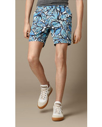 Burberry Brit Leaf Print Chino Shorts