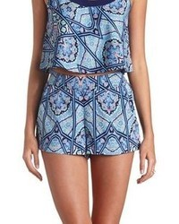 Charlotte Russe Flowy Scarf Print High Waisted Shorts