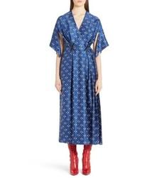 Fendi Drops Print Silk Dress