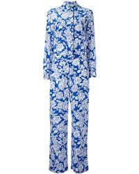 MSGM Floral Print Jumpsuit