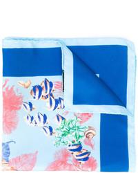 Kiton Marine Print Pocket Square
