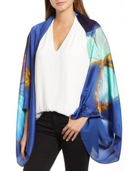 Ted Baker London Butterfly Silk Cape Scarf