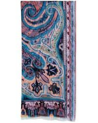 Etro paisley print silk scarf medium 958584