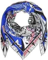 Zodiac print twill silk triangle scarf medium 374101