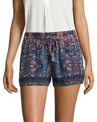 Lindee constellation printed silk shorts medium 3702800