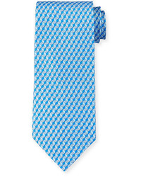 Salvatore Ferragamo 3d Gancini Print Silk Tie