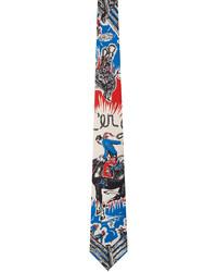 Paul Smith Blue Silk Cowboy Tie
