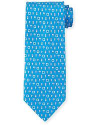 Salvatore Ferragamo Buoy Print Silk Tie