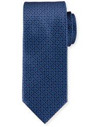 Brioni Circle Link Printed Silk Tie