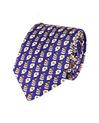 Lazyjack Press Kegs Eggs Silk Tie