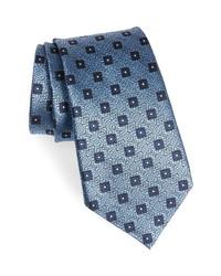 Ermenegildo Zegna Square Medallion Silk Tie