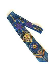 Blue Print Silk Tie