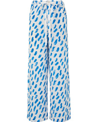 Marni Printed Silk Tte Wide Leg Pants