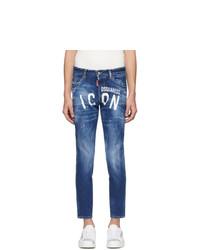 DSQUARED2 Blue Skinny Dan Jeans