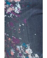 b4388696b62d4 ... Melissa McCarthy Plus Size Seven7 Paint Splatter Print Roll Cuff  Stretch Skinny Jeans ...