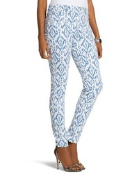 Blue Print Skinny Pants