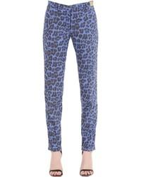 Monocrom leopard printed cotton poplin pants medium 814230