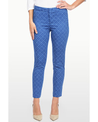 NYDJ Corynna Ankle In Shibori Dots Printed Stretch Sateen