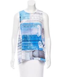 Printed sleeveless top w tags medium 3649334