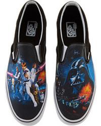 Blue Print Slip-on Sneakers