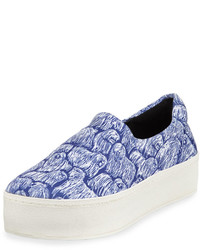 Opening Ceremony Komondor Print Fabric Slip On Sneaker Cobaltmulti