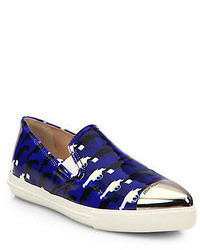 Printed patent leather skate shoes medium 102412