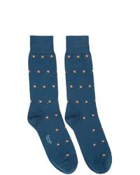 Paul Smith Blue Artist Lolly Socks