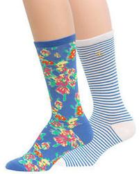 Ralph Lauren Floral And Stripe Trouser Sock Set