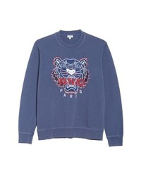 Kenzo Bleached Embroidered Tiger Sweatshirt