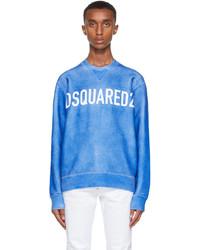 DSQUARED2 Blue Airbrush Cool Sweatshirt