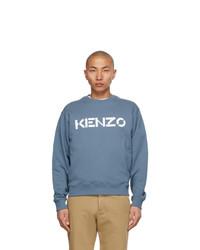 Kenzo Blue Logo Sweatshirt