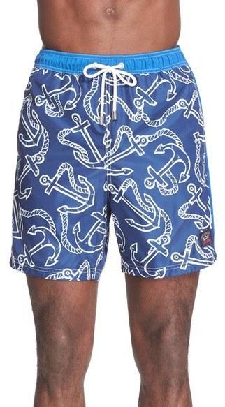 fa527f793e Paul & Shark Anchor Print Swim Trunks, $275 | Nordstrom | Lookastic.com