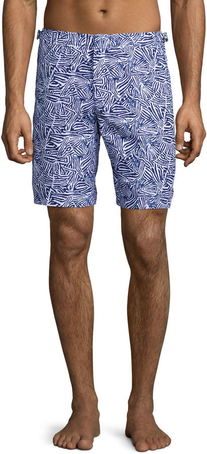 3fa02b3484cc ... Blue Print Swim Shorts Orlebar Brown Dane Mato Grosso Printed Swim  Trunks Navy ...