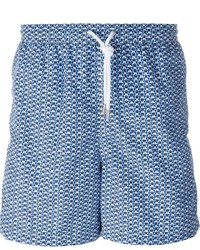 Kiton Arabesque Print Swim Shorts