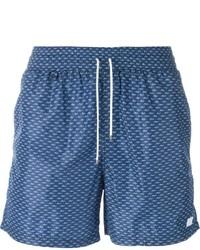 Salvatore Ferragamo Crocodile Print Swim Shorts