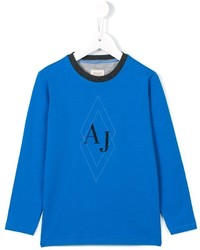 Armani Junior Logo Print T Shirt
