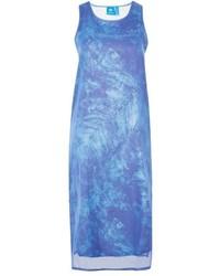 adidas Originals Ocean Print Sheer Layer Tank Dress