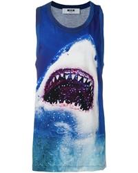 MSGM Shark Print Tank Top
