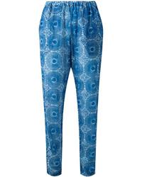 Printed tapered trousers medium 3776531