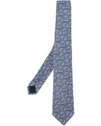 Lanvin Wave Print Tie