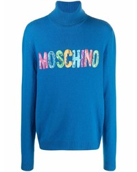 Moschino Painted Logo Cashmere Jumper