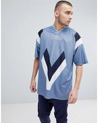 Puma Heritage Football T Shirt In Blue 57499875