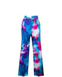 MSGM Wide Leg Printed Trousers