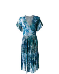 Masscob Marble Effect Wrap Dress