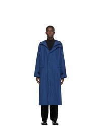 Kassl Editions Blue Taffeta Long Hooded Coat