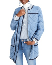 J.Crew Quilted Denim Coat