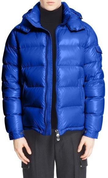 moncler blue puffer jacket