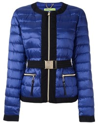 Versace Jeans Belted Cropped Puffer Jacket