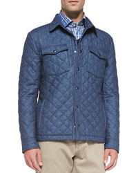 iSi Quilted Shirt Jacket Blue